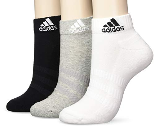 adidas Socken 3 Paar Cushion Ankle, M Grey Heather/White/Black, M, DZ9364