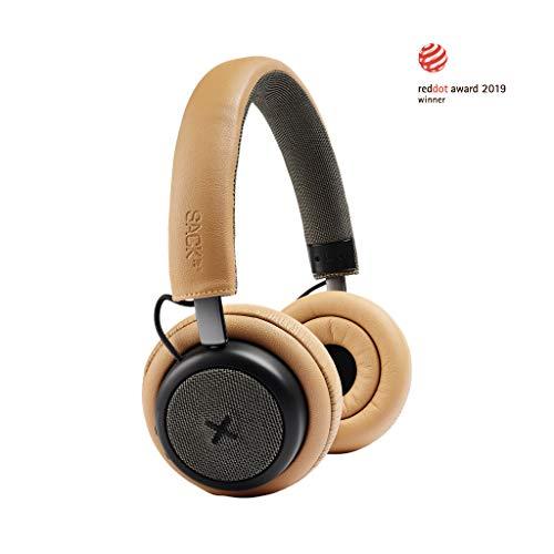 SACKit - TOUCHit On-Ear Bluetooth-Kopfhörer - Kompakter Noise Cancelling Funkkopfhörer im dänischen Design - kabellose Kopfhörer ideal die Zugfahrt, beim Training oder beim Spaziergang - goldfarben