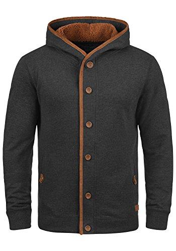 BLEND Alesso Teddy Herren Sweatjacke Übergangsjacke mit Teddy-Futter und Kapuze aus hochwertiger Baumwollmischung Meliert , Größe:XXL, Farbe:Navy Teddy (74653)