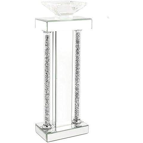 Leonardo Collection cristallo Colonna portacandele 43cm, media, argento
