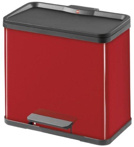 Hailo 0630-719, Öko duo L, Tret-Abfalltrenner, 17+9 Liter, stahlblech /verschiedene Farben