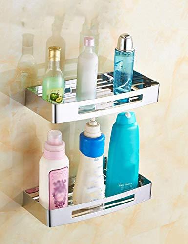 YISHUAISWJ Dusche Regal Perforierte Badezimmer Rack Edelstahl Badezimmer Dreieck Korb Wc WC Regale Sicherstellung Qualität CMF,R21cm * H (eingestellt) cmR