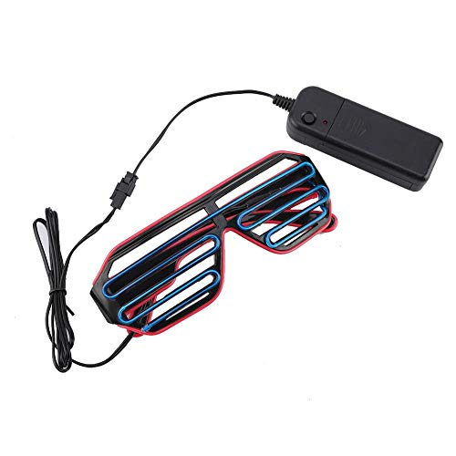 AUNMAS Led Brillen Glowing Safety Rave Aviator Light Brille für Kostüm Geburtstag Party personalisierte Dekorationen(2#)