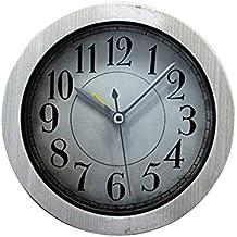 LEYIJU Antiguo y Minimalista Reloj de Alarma de Madera, pequeño, de 5 Pulgadas,