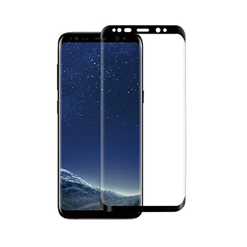 Samsung Galaxy S8 Plus Panzerglas [Case Friendly], Skitic Tempered Glass Schutzfolie Gehärtetem Glas Panzerfolie Displayschutzfolie Folie 3D Gebogene Vollständige Abdeckung Hartglas Screen Protector für Samsung Galaxy S8 Plus - Schwarz (1 Pack) (Dicken Transparenz-film)