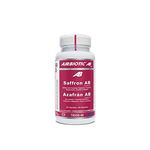 Airbiotic AB - Azafrán AB Complex - Hierbas, Suplementos para Ansiedad y Estado de Ánimo - 60 cápsulas