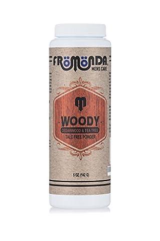 Fromonda Woody Talc Free Powder For Men 5oz - Cedarwood