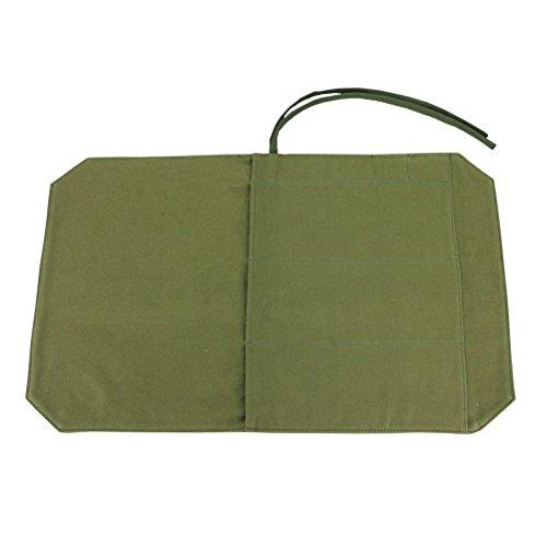 BESTONZON Profi Kochmesser Messer Messer Roll Bag Besteck Halter Veranstalter mit 4 Slots (Army Green) Professional Knife Roll