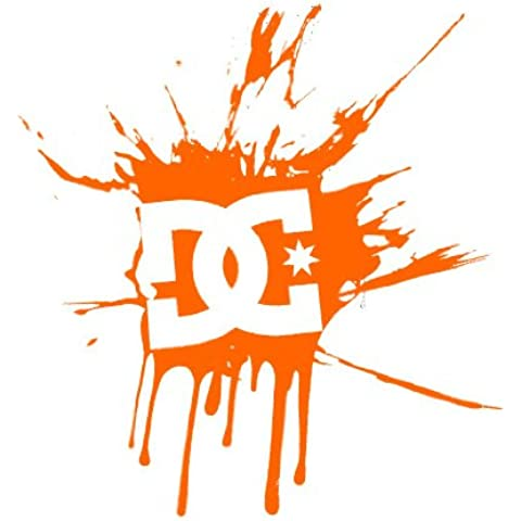 DC Splat Sticker Orange
