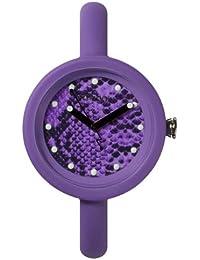 IO?ION! Pod Snake Violet PFS-VLT06 - Reloj analógico de cuarzo unisex, correa de silicona color morado
