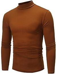 Magiyard T-Shirt Chemisier à Manches Longues à Manches Longues à col roulé  ... a50962e0a15c