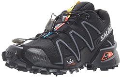 Salomon Speedcross 3, Women Trail Running Shoes, Black (Blackblacksilver Metallic-x), 4 Uk (36 23 Eu)