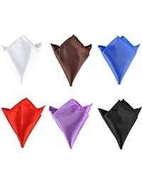 Vococal - 6 piezas 22 x 22cm Toalla Pañuelo Plaza de Bolsillo de Imitado Seda para Traje de Boda para Novio Padrino para Hombre,Color Mezclado