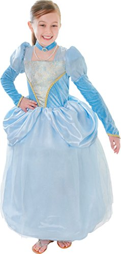Kids Fancy Club Party blau Prinzessin Kleid Royal Kostüm Outfit mit Choker - Kinder Royal Fancy Dress Kostüm