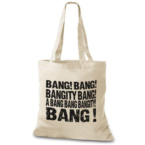 Stylobag Jutebeutel Bang! Bang! Bang Bang! Un Botto Bang Bang Bang! Stofftasche Natur