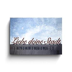 Liebe deine Stadt, Foto auf Holz, verschiedene Größen, Wanddeko, Fotodruck, Geschenk, Holzdeko, Köln Bilder