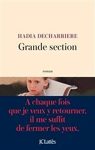 Grande section par Hadia Decharrière