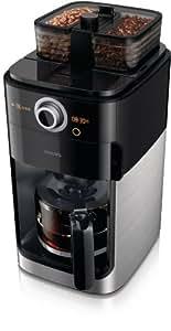 Philips - HD7762/00 - Cafetière Grind & Brew, moulin à grain, double bac à grains, Timer, sélecteur d'intensité, café en grains ou moulu