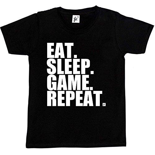 Fancy A Snuggle Eat. Sleep. Game. Repeat. Gamer Repeat Nerd Geek Kids Boys / Girls T-Shirt