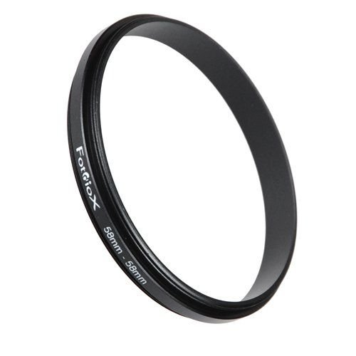 Fotodiox Macro-Ring 58mm - 58mm, Macro Close-up Reverse Ring, Anodized Black Metal Ring (Reverse Ring)