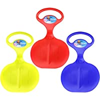 Com-Four® 3x snow dasher snow sledge with motif in the handle in various fresh colours