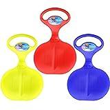 COM-FOUR® 3x Schneeflitzer Schneerutscher Rutscher Schlitten mit Handgriff in verschiedenen Farben (3 Stück - Snow Glider)
