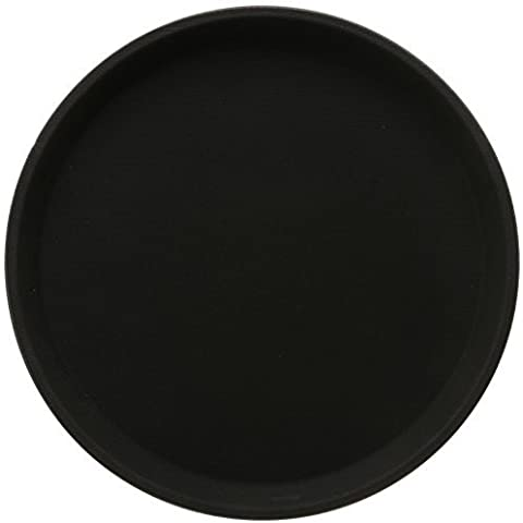 Winco Easy Hold Round Tray, 11-Inch, Black by Winco USA