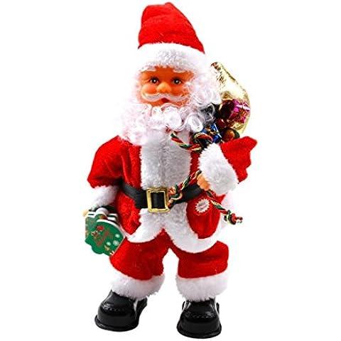Natale animato Babbo Natale Figura ritorto Hip Danza Canto elettrica giocattoli Natale Jingle della Bell canzone decorazioni natalizie (Sacchetto del regalo)