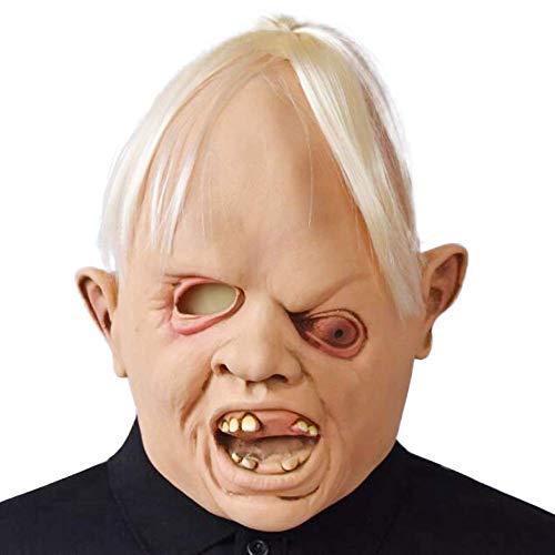 XBYUK Latex Gummi Gruselig gruselig hässlich Baby Kopf die Goonies Faultier Maske Halloween Party Kostüm Dekorationen