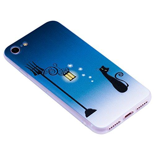 Coque iPhone 7 (4,7 Pouces) ,BONROY® Ultra-Mince Soft Silicone Etui de Protection pour Modèle de peinture Souple Gel TPU Bumper Anti-Scratch Housse Case Cover Pour iPhone 7 (4,7 Pouces) Chat de rue