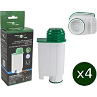 4 x FilterLogic CFL-902B - Filtro de agua reemplaza el cartucho de Saeco nº CA6702/00 - Brita ® Intenza+ para Saeco / Philips / Gaggia cafetera automática - Máquina de café espresso