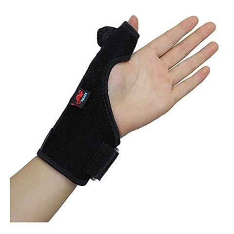 AOLIKES Thumb Splint Support Wrist Brace Strap for Trigger Finger Tendonitis Sprain Arthritis Strain NHS Left Hand