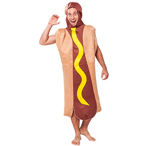Dog Halloween Kostüm Essen Kostüm Outfit (Hund In Einem Hot-dog-kostüm)