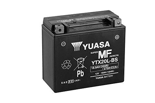 Preisvergleich Produktbild Batterie YUASA YTX20L-BS, 12V/18AH (Maße: 175x87x155) für Harley Davidson FLSTC 1584 Heritage Softail Classic Baujahr 2007