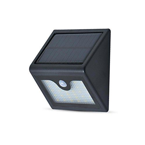 Street Cord (Solar Licht Außen Wandleuchte SSLW Solar Street Light Solar Garden Light 26LED Schwarz )