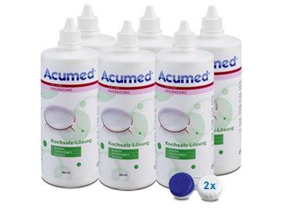 Acumed Kochsalzlösung 6er Set 6x360ml, 2 Behälter (Kontaktlinsen-lösung Für Kochsalzlösung)