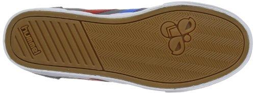 Hummel Fashion - Chaussures Hummel 'Slimmer Stadil High', de sport - HUMMEL SLIMMER STADI Gris (Castle Rock/Ribbon Red/Brilliant Blue)