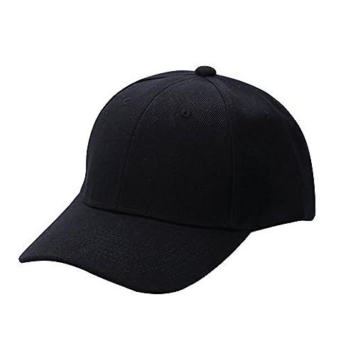 MORESAVE Plain Snapback Caps Hip-Hop Baseball Cap Unisex Curved Visor Hat Adjustable Peaked Hat