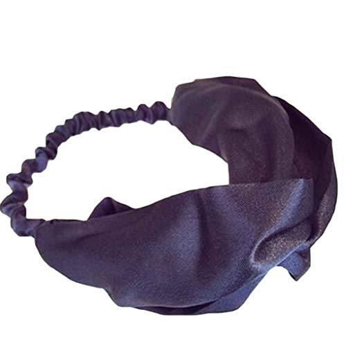 (Bobury Frauen-Mädchen-Patchwork-elastisches Stirnband-Knoten-Haar-Halter-Band Ornament Haarschmuck Headwrap)