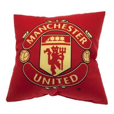 Manchester United F.C. Kissen mit Wappen des F.C. Manchester United, offizielles Lizenzprodukt, tolles Geschenk für Fußballfans