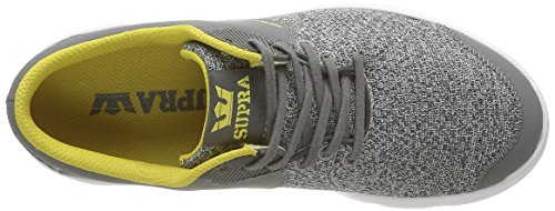 Supra - Noiz, Sneaker Unisex – Adulto Grigio (Gris (Grey Heather/Charcoal/White))