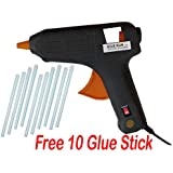 RPISHOP Professional Hot Melt Glue Gun 40w with ON Off Switch High Flow with 10 Glue Stick Free