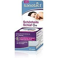 Sanotact Schönheitsschlaf Kapseln - Nahrungsergänzungsmittel mit Vitaminen, Mineralstoffen, Hopfenextrakt und Coenzym, 8 g
