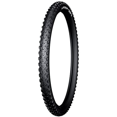 Michelin Wild Grip'R Advanced, Pneu VTT Tringle Rigide, Tubeless ready, Gum-X, Noir, 27.5 x 2.35