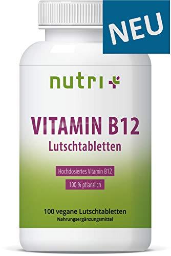 AKTIONSPREIS: Vitamin B12 Lutschtabletten - vegan & hochdosiert - 1300µg (mcg) 100 vegane Tabletten zum lutschen - aktives Methylcobalamin - Kirsche - hergestellt in Deutschland