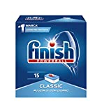 Finish Pastiglie Lavastoviglie Classic, Regular, 15 Tabs