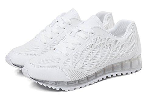 NEWZCERS Jolie mode respirante marche Running sport chaussures pour les femmes Blanc