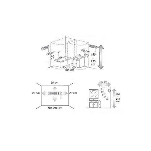 XIMAX Infrarotstrahler Terrassenheizung Heizstrahler ohne Ventilator IP24, Silber/Grau, 1800 Watt, 42022 - 4
