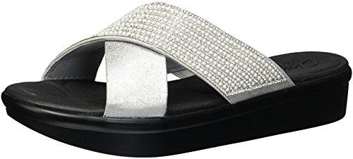 Skechers Bumblers-summer Scorcher, Sandales À Bout Ouvert Pour Femme Argent (argent)