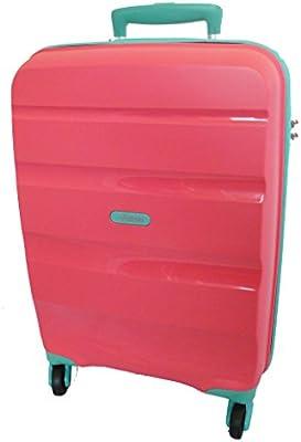 Trolley Medio 66 Cm Spinner 4 Ruote | American Tourister Bon Air | 85A002-Coral/Aqua Marine